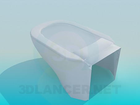 3d model Modern toilet - preview