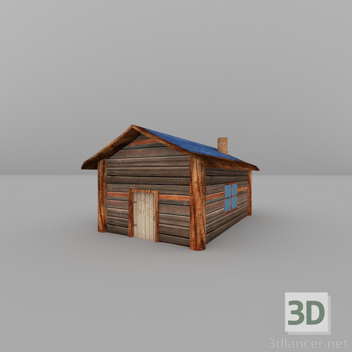 descarga gratuita de 3D modelado modelo Casa de madera