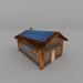 3d model Casa de madera - vista previa