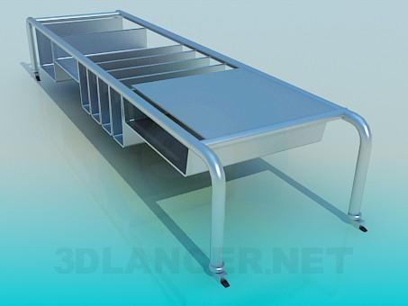 3d моделирование Передвижной стол для книг модель скачать бесплатно