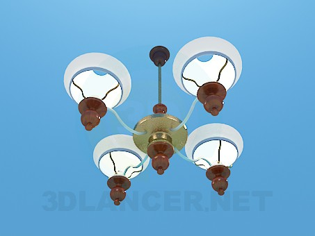 modelo 3D Pinturas de techo de araña spoluzakrytymi - escuchar