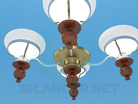 3d model Chandelier spoluzakrytymi ceiling paintings - preview