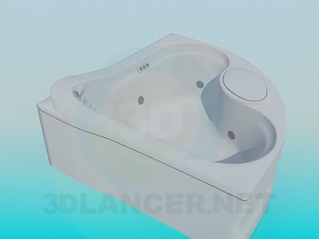 3d модель Ванна джакузі – превью