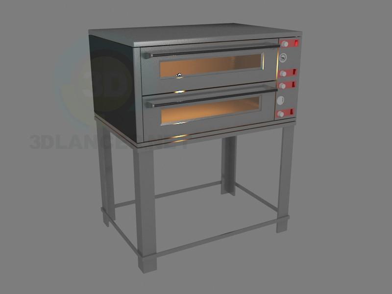 3D Modell Pizza-Ofen - Vorschau