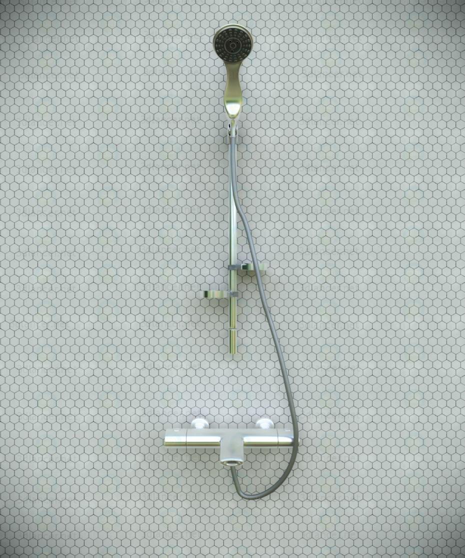 3d model Panel de ducha, raydance hansgrohe - vista previa