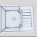 3d Washing Bianco Zia 40 S model buy - render