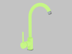 Sink mixer green with U-spout Milin (BEU G62M)