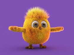 personagem de frango para desenhos animados