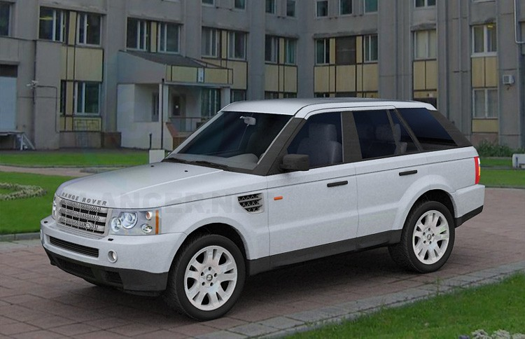 modelo 3D Range Rover - escuchar