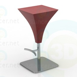 3d modeling bar stool model free download