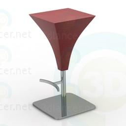3d модель Барний стілець – превью