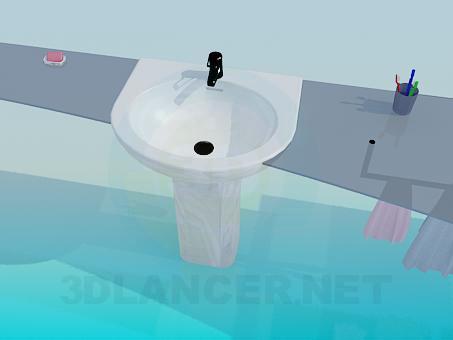 modelo 3D Cuarto de baño - escuchar
