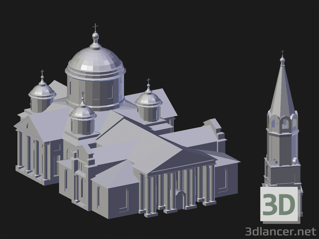 3d model Arzamas. Smolensky Cathedral - preview