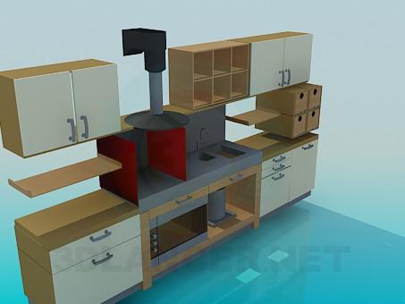 3d моделирование Кухня модель скачать бесплатно
