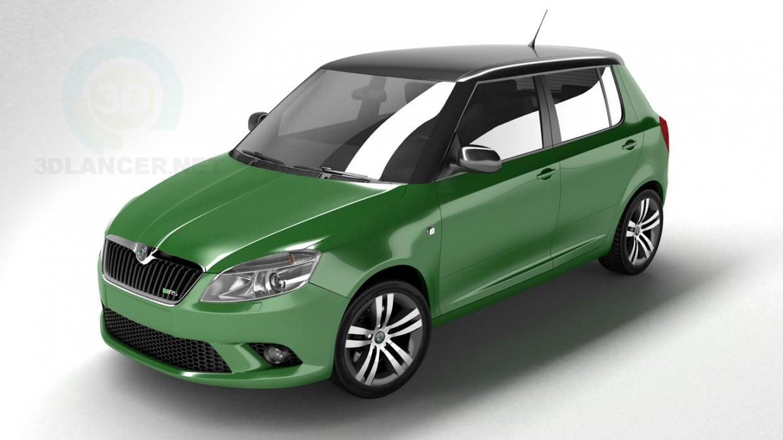 3d model Skoda Fabia - preview