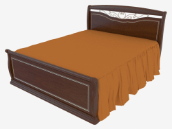 Double bed with a back for legs (1758x1233x2175)