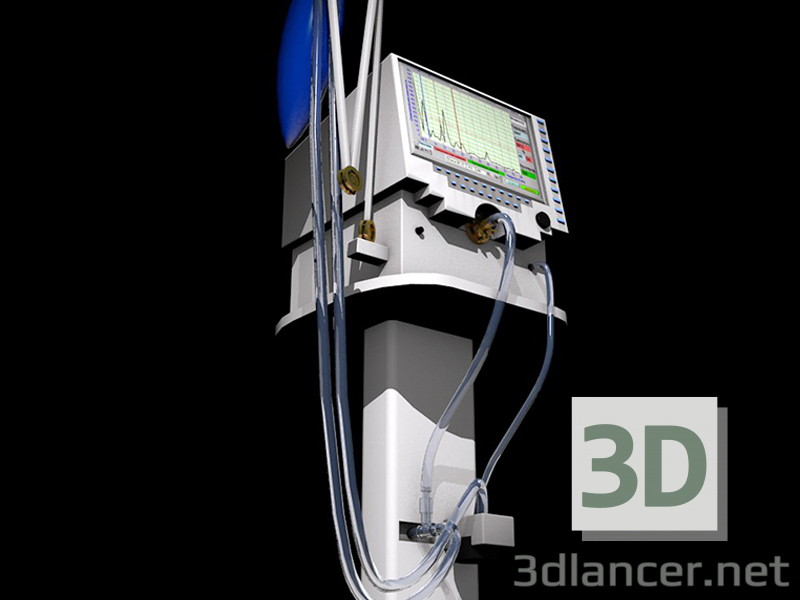 3d model ventilation apparatus light - preview