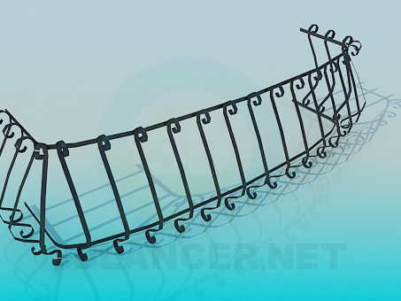 3d model Low fence - preview
