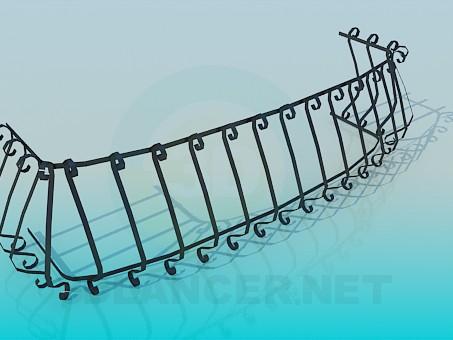 3d модель Низкая ограда – превью
