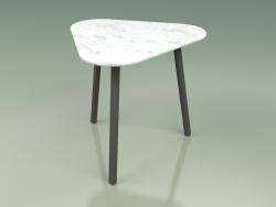 Side table 010 (Metal Smoke, Carrara Marble)