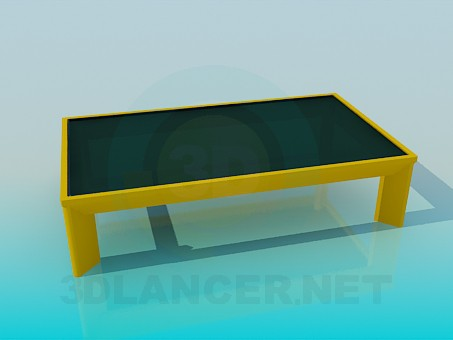 3d modeling Coffee table with dark glass model free download