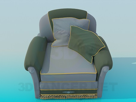 3d modeling Armchair with pillows model free download