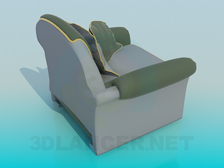 3d model Armchair with pillows - preview