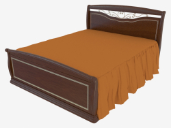 Double bed with a semi-circular backrest for the legs (1892x1233x2125)
