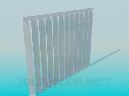 3d model Blinds vertical - preview