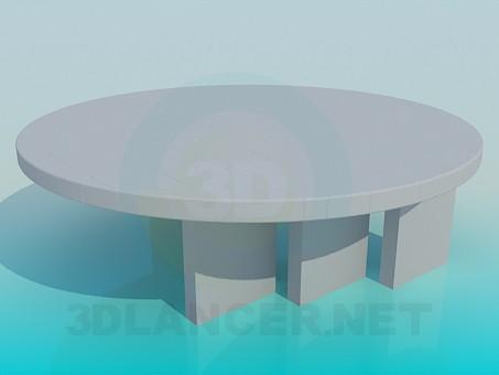 modelo 3D Original mesa redonda - escuchar