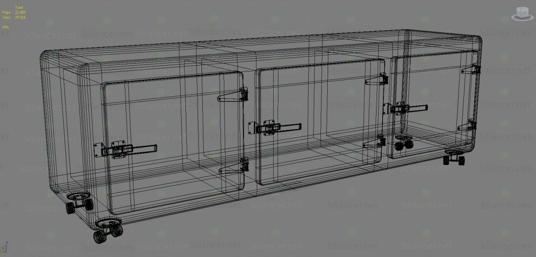 modelo 3D Cajonera LOFT - escuchar