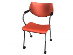Stackable chair with wheels