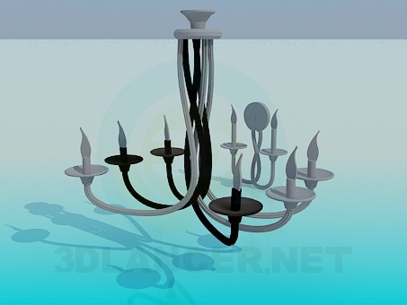 3d model Chandelier and Sconce candles - preview