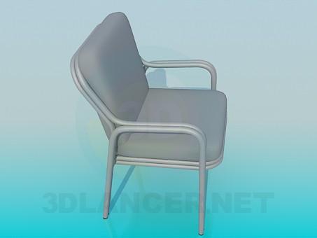 3d моделювання М'який стілець з підлокітниками модель завантажити безкоштовно