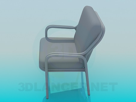 3d model Soft chair with armrests - preview