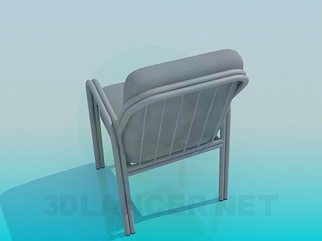 3d модель М'який стілець з підлокітниками – превью