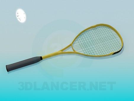 modelo 3D Raqueta de tenis - escuchar