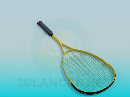 3d модель Теннисная ракетка – превью