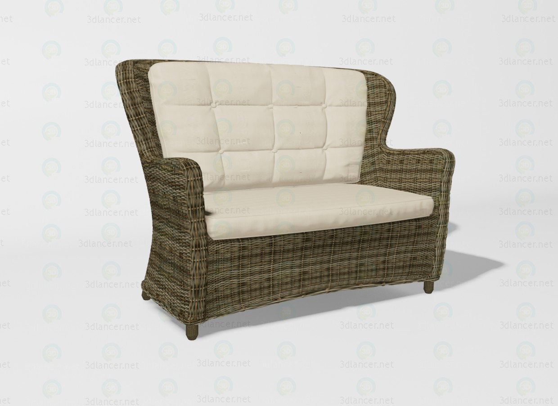 3d модель Siena диван – превью