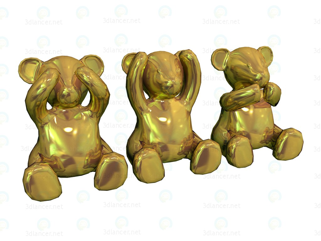 3d model Spike Bears Gold - preview