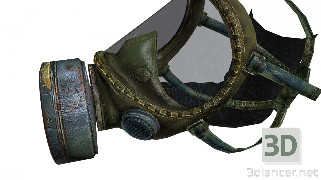 3d model Gas mask - preview