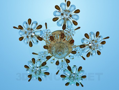 3d model Chandelier-crystal flowers - preview