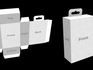 Cartón de paquete 3D (caja o bolsa)