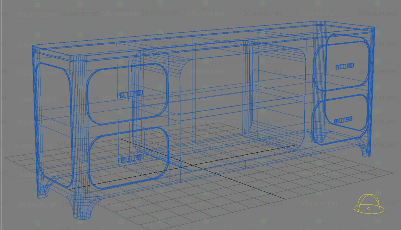 3d model dresser LOA - preview