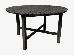 Round dining table (dark)