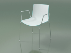 Chair 0251 (4 legs with armrests, two-tone polypropylene, chrome)