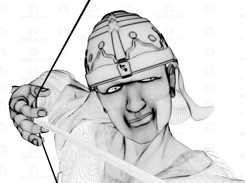 3d модель Хан батыр – превью