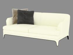 Sofá de cuero doble (luz) Oscar (208х98х83)