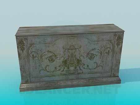 3d modeling Wooden Cupboard model free download