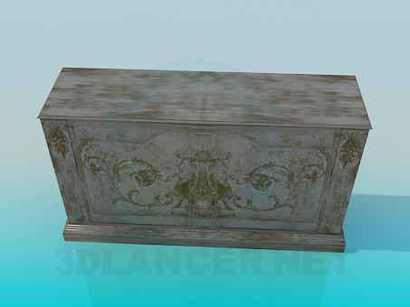 3d model Wooden Cupboard - preview